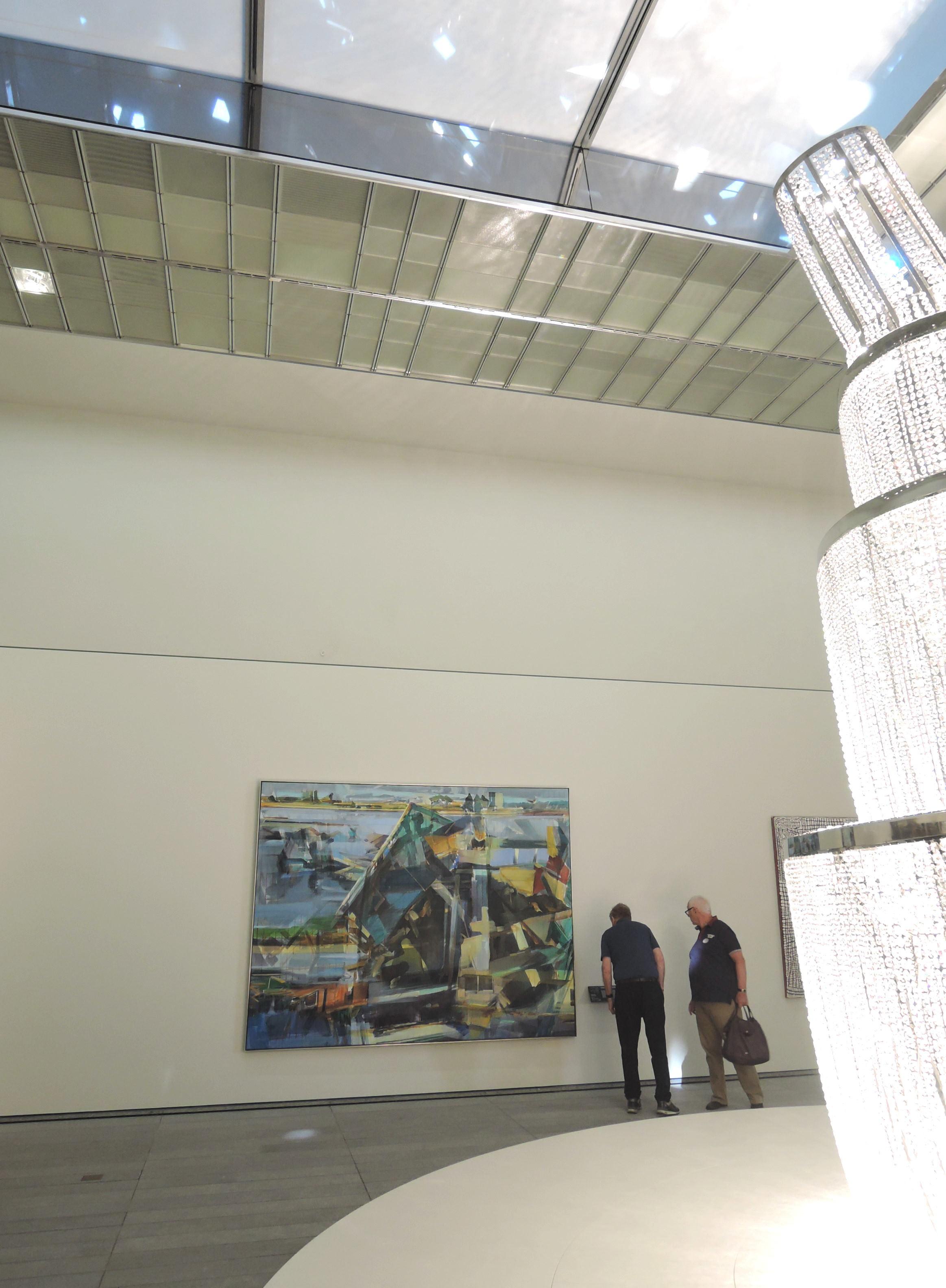 Une scène globale  , Louvre Abu Dhabi, November 2017, curator Juliette Singer. Artists in view Zang Huan, Mounir Fatmi, Omar Ba, Duncan Wylie, Ai Wei Wei