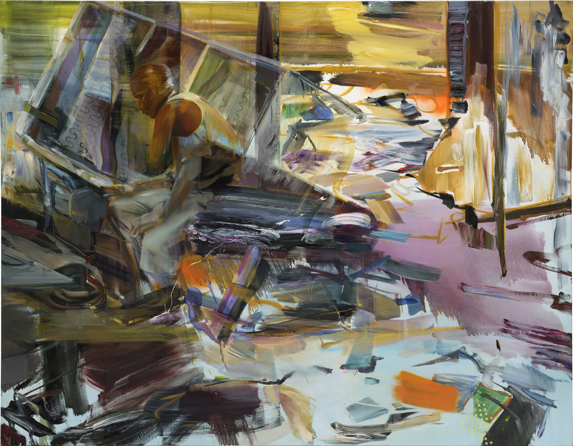 Chesterfield , 2013, oil and alkyd on canvas, 183 x 235cm