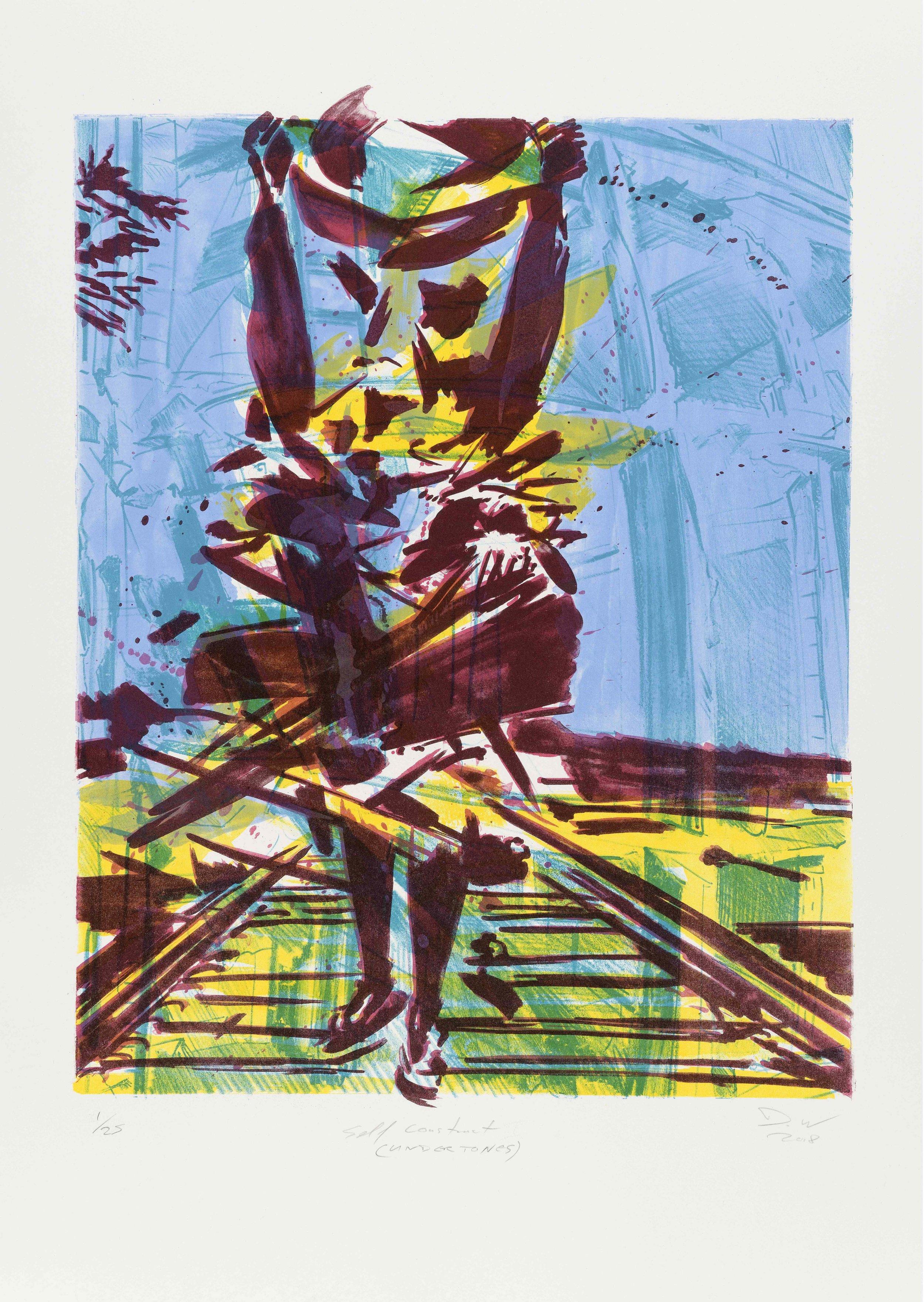 Self Construct (Undertones) , 2018, lithograph, 75x58cm