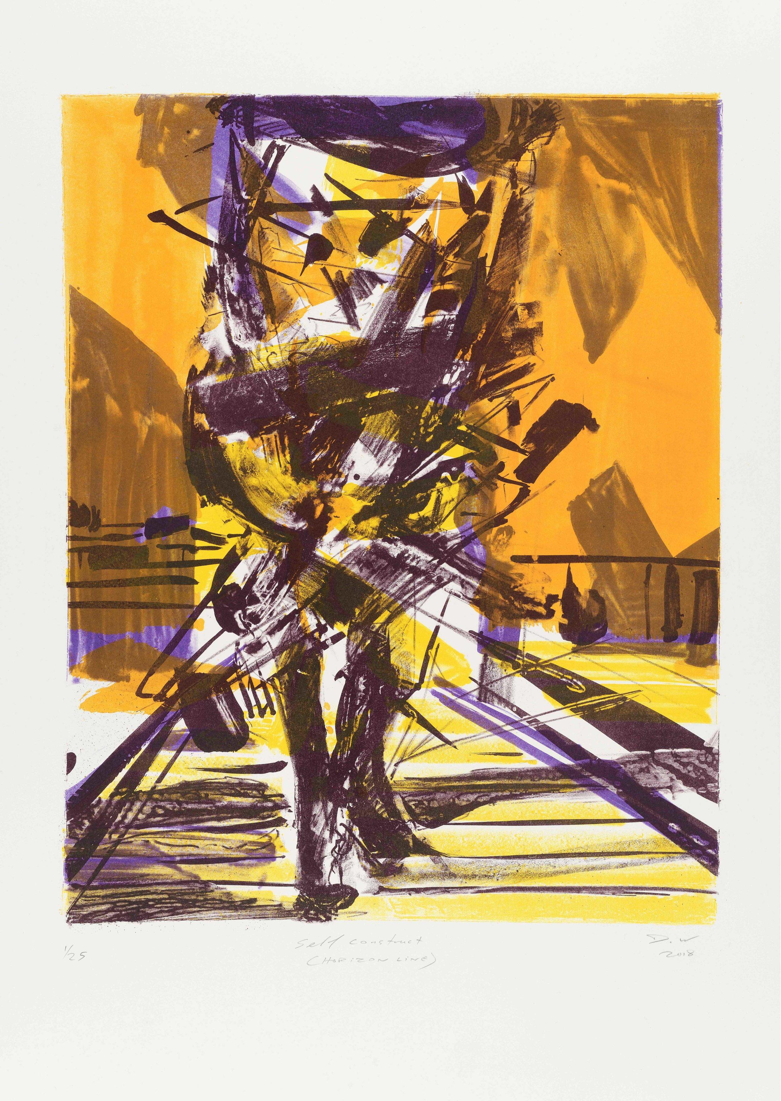Self Construct (Horizon Line) , 2018, Lithograph, 75x58cm