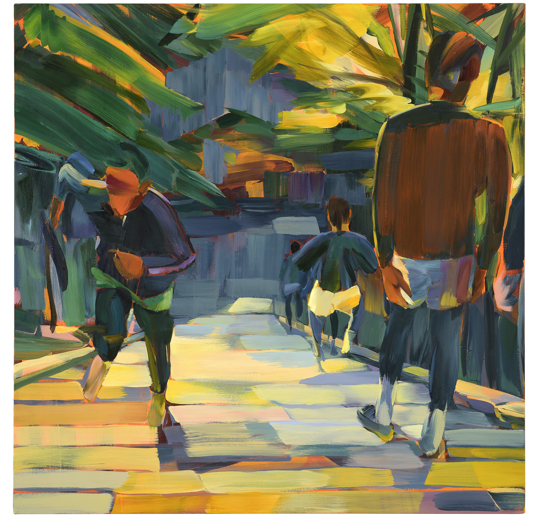 Tokyo Steps , 2019, oil on canvas, 180x180cm