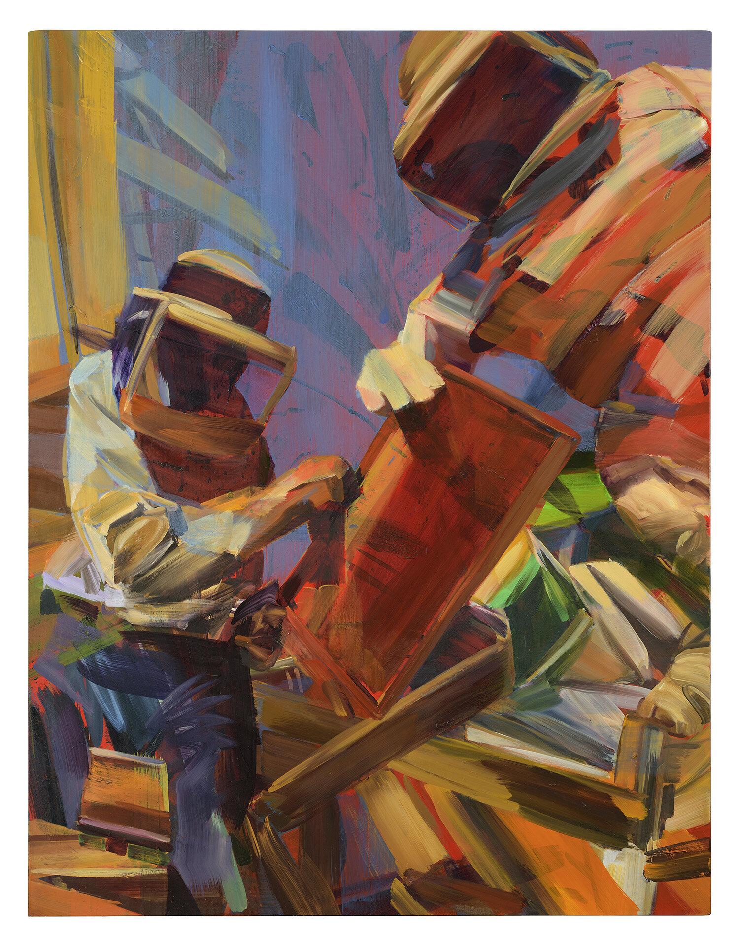 Internet Shadow,   2019, oil on canvas, 162x126cm