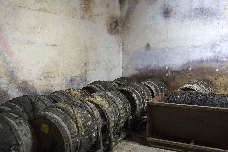 Wine in ancient casks 100 feet below ground