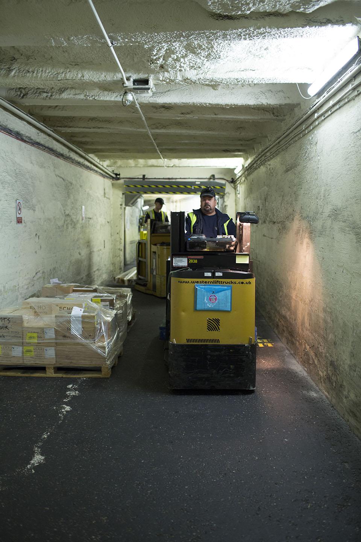 Workers 100 feet below ground
