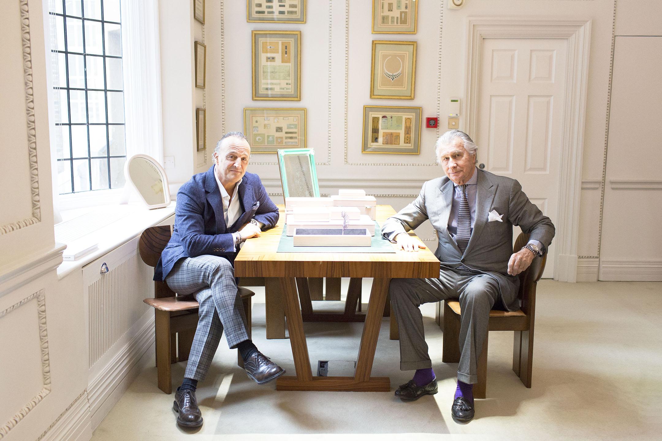 Mayfair jeweler Glenn Spiro and Arnaud Bamberger for The New York Times