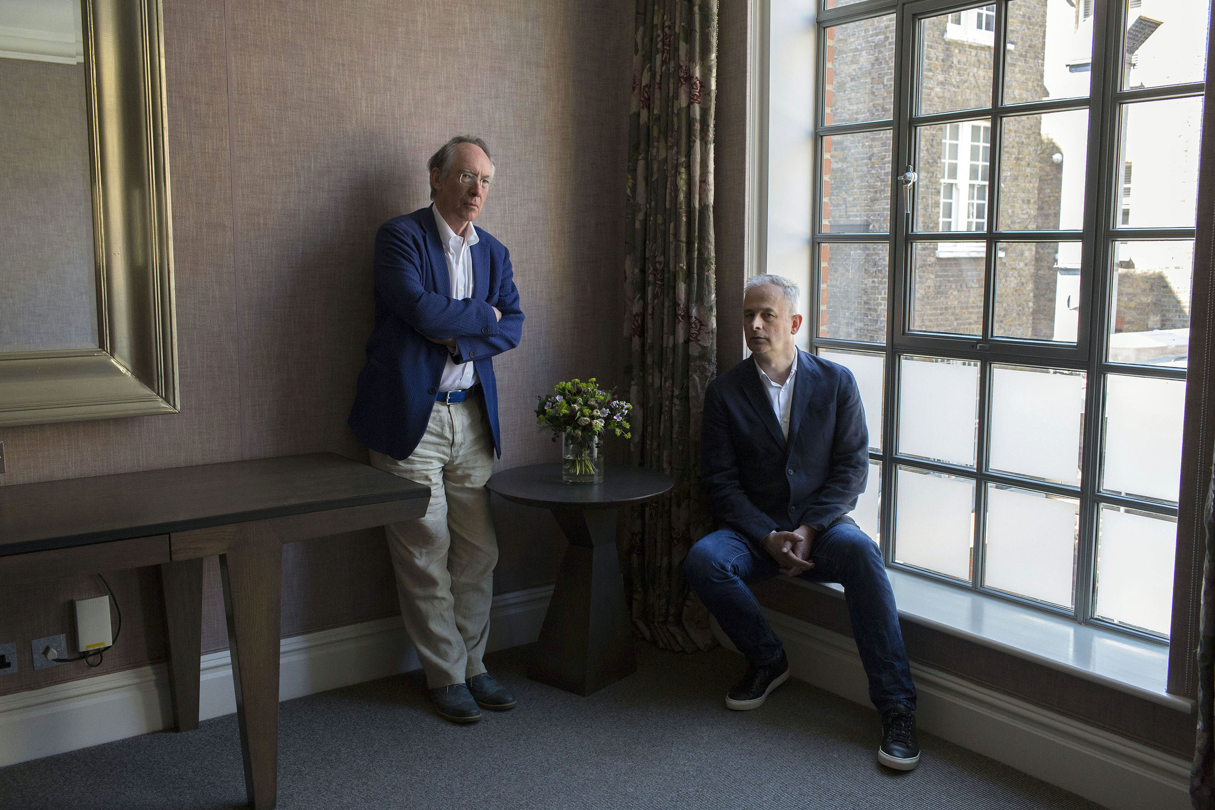 English novelist Ian McEwan and director Dominic Cooke, photographed in London for The New York Times