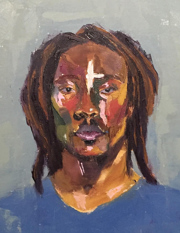 Amos  oil on canvas  16 x 20
