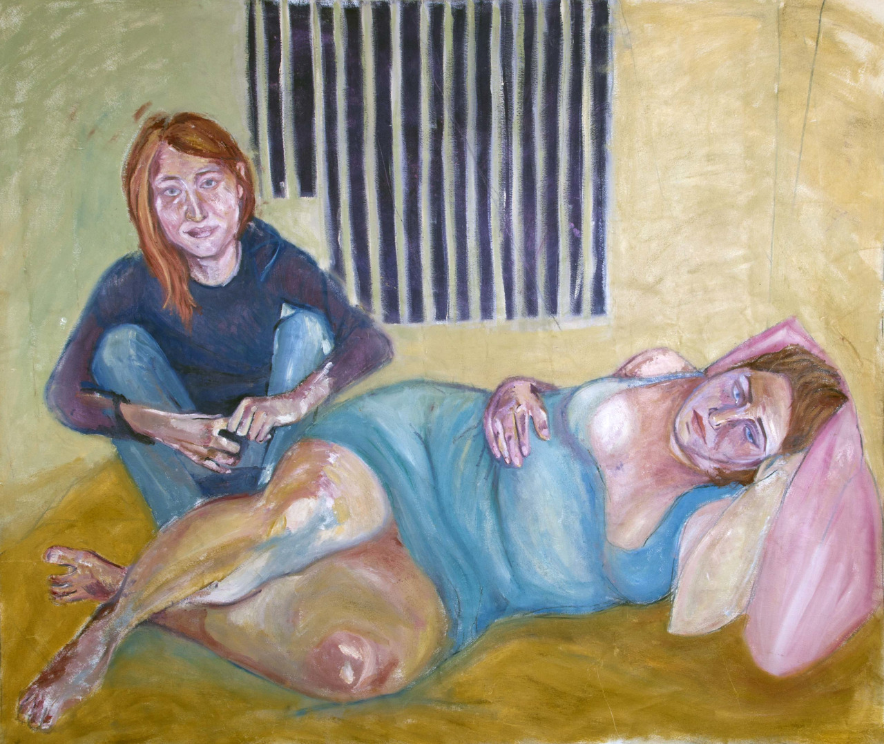 Emma and Noemi  oil on canvas  62x72