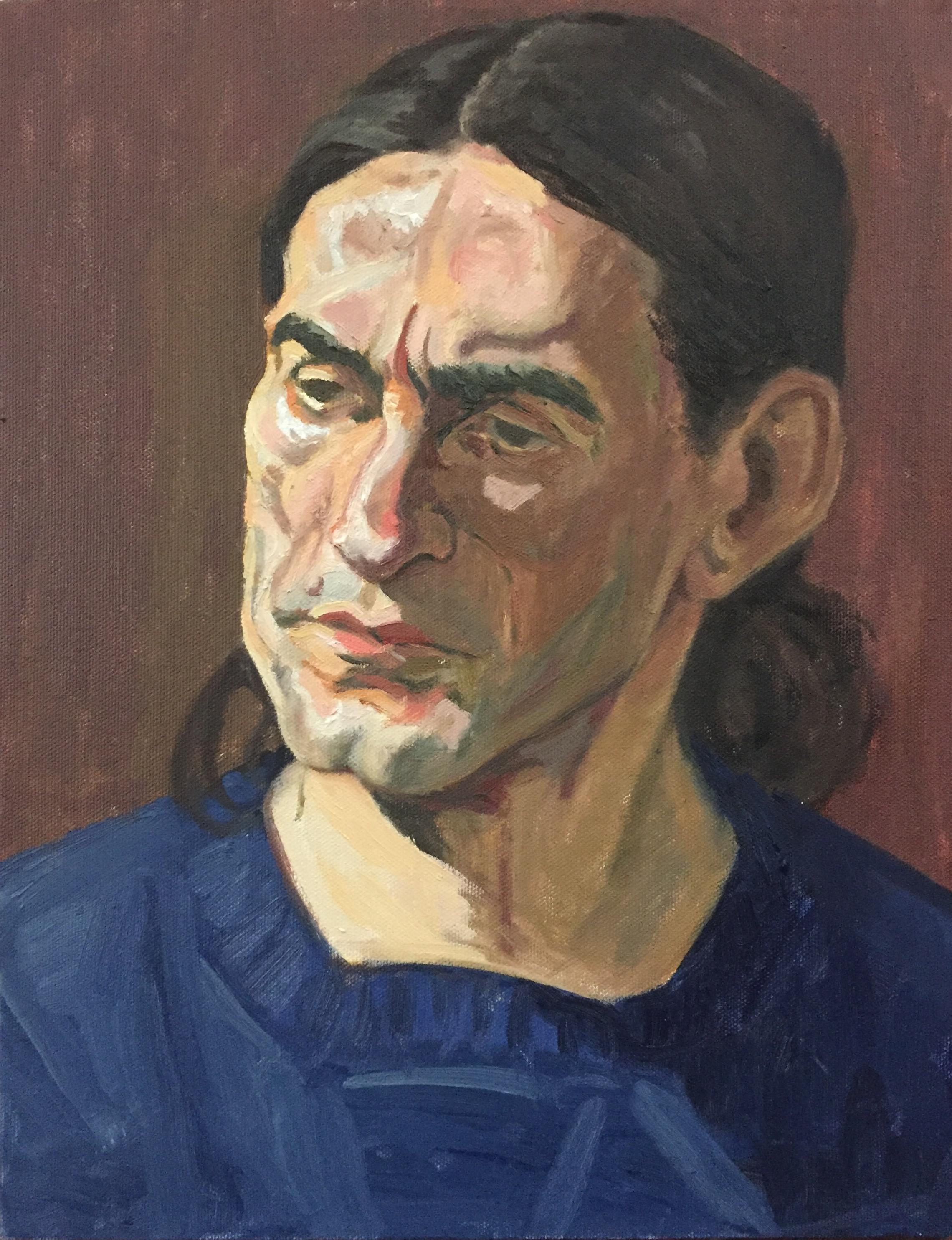 James  oil on canvas  11x14