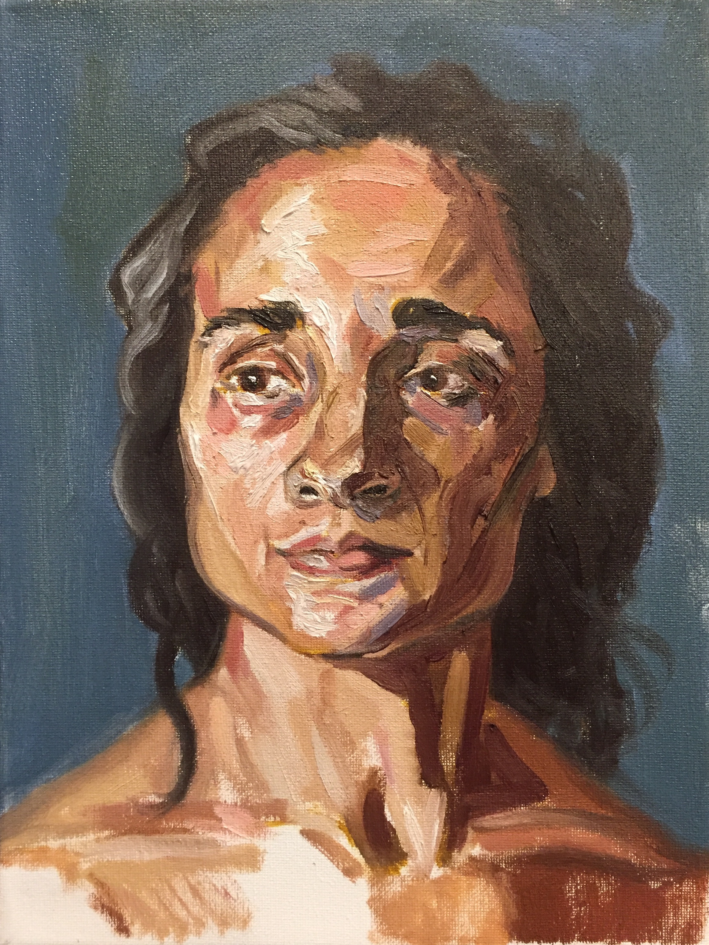 Evelyn II  oil on canvas  9x12
