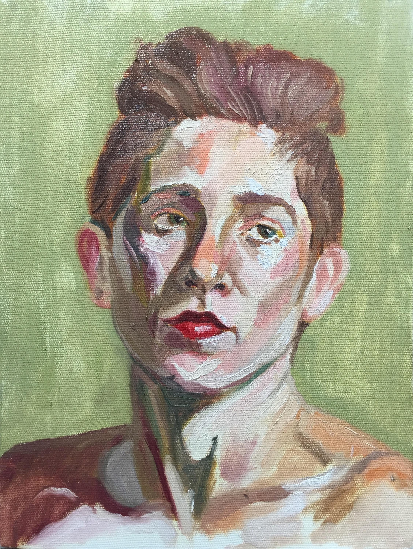 Ariel  oil on canvas  9x12