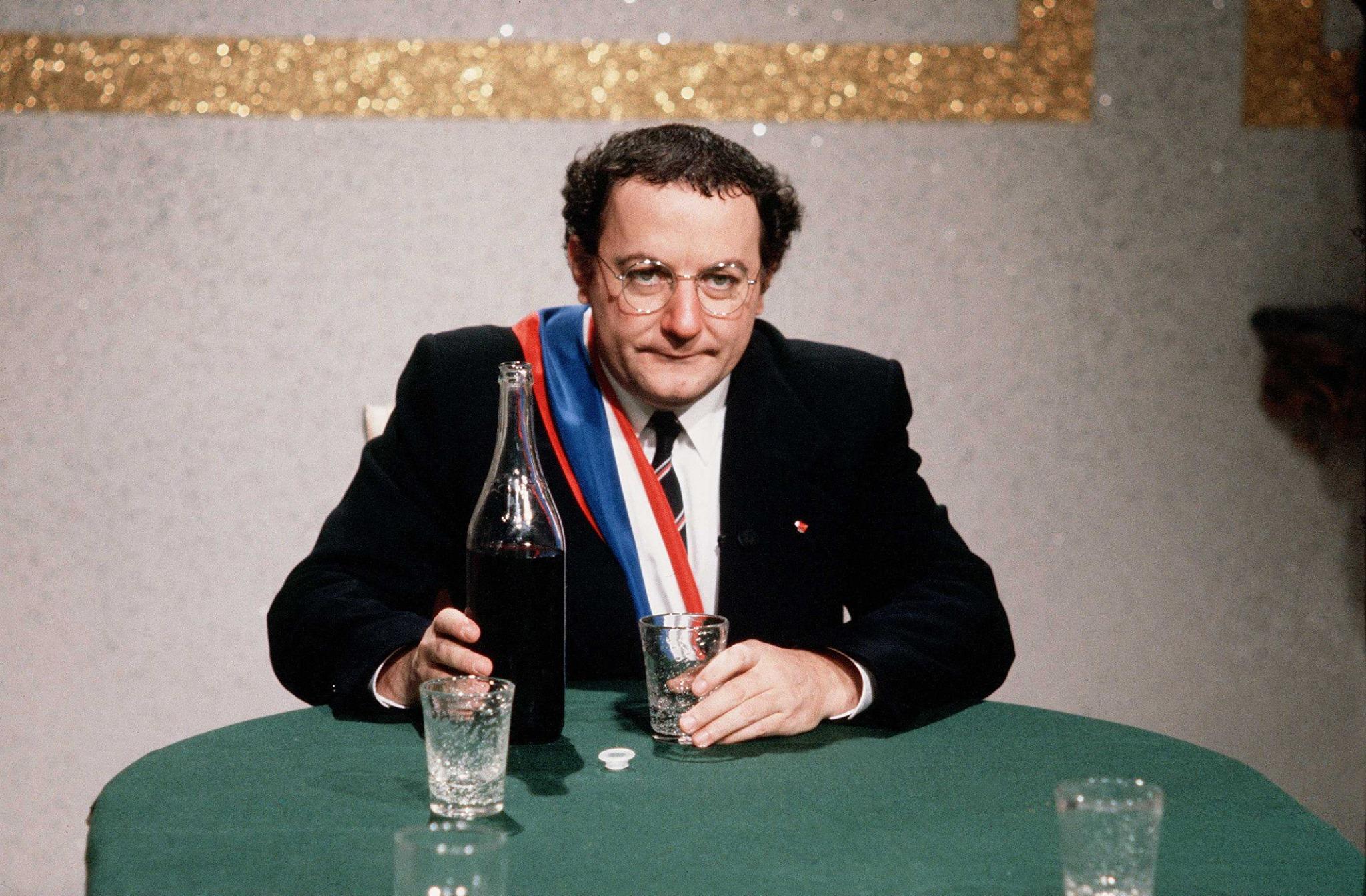 Coluche, 1980 © Michel Giniès