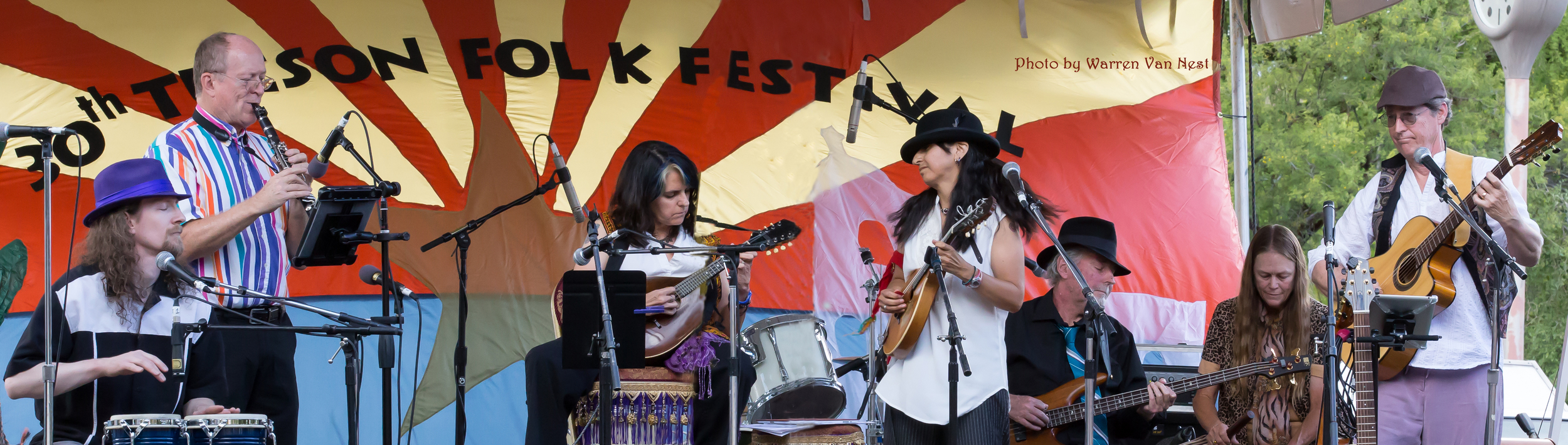 on the main stage at the Tucson Folk Fest 2015