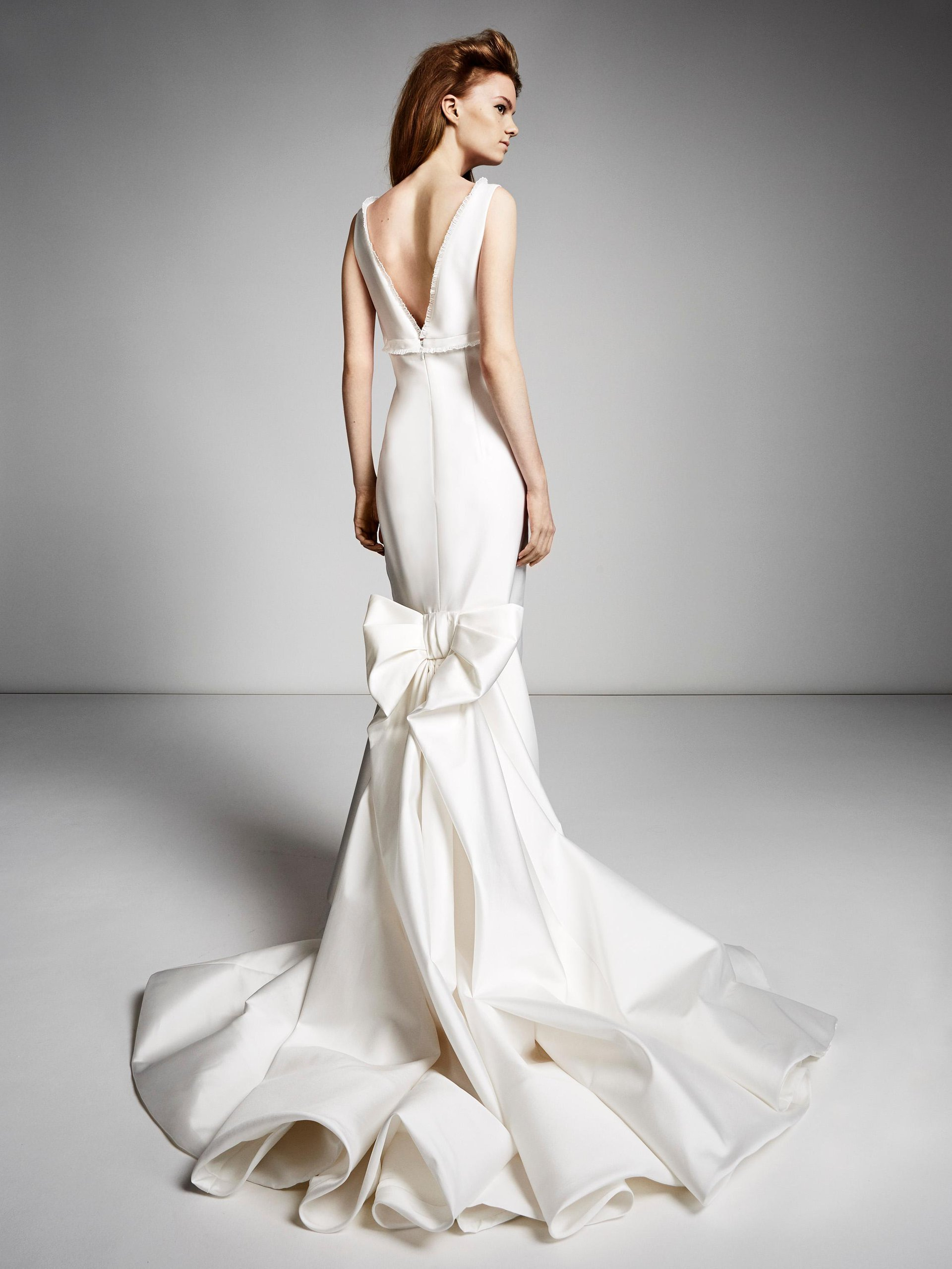 Empire Bow Train Gown