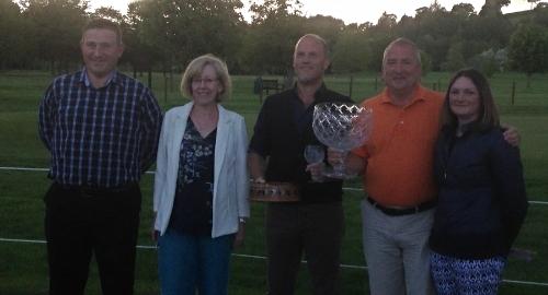 From left: Club Captain Chris Offa, Kath Jones, Anthony Ryan, John Thomas, Sherrie Edwards (Lady Captain)