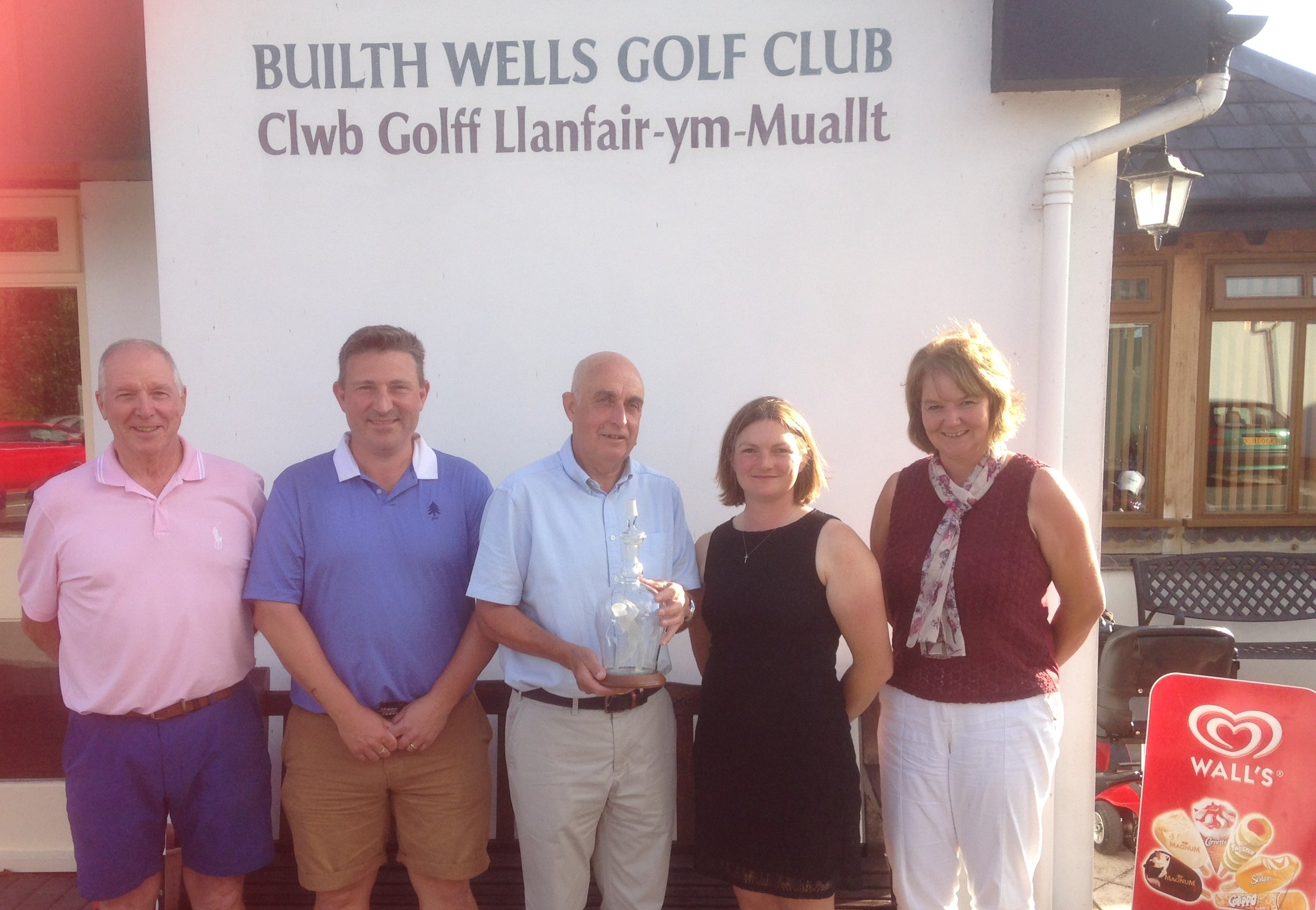 From left: Roger Gant, Chris Offa (Club Captain), Don Harris, Sherrie Edwards (Lady Captain), Hayley Price