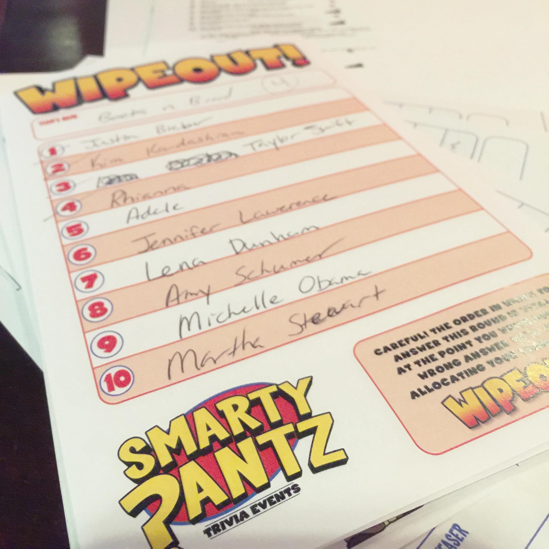 Smarty Pantz Trivia - Wipeout