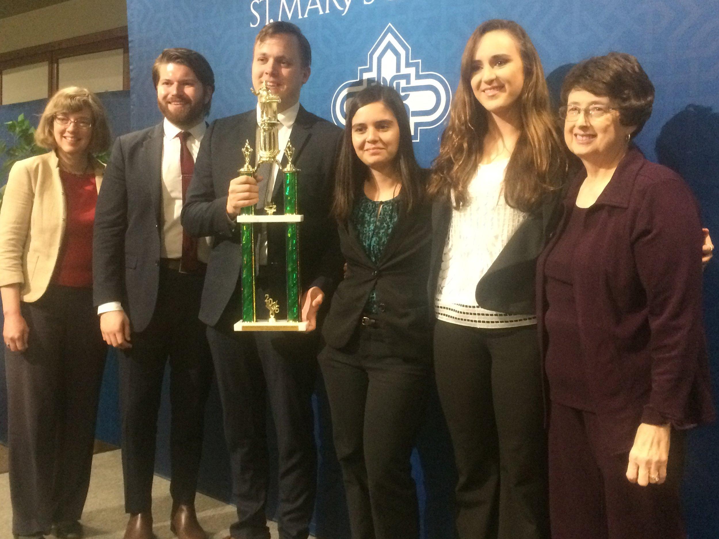 Texas Region Ethics Bowl 2016 Winner  University of Central Oklahoma - team Bronchos