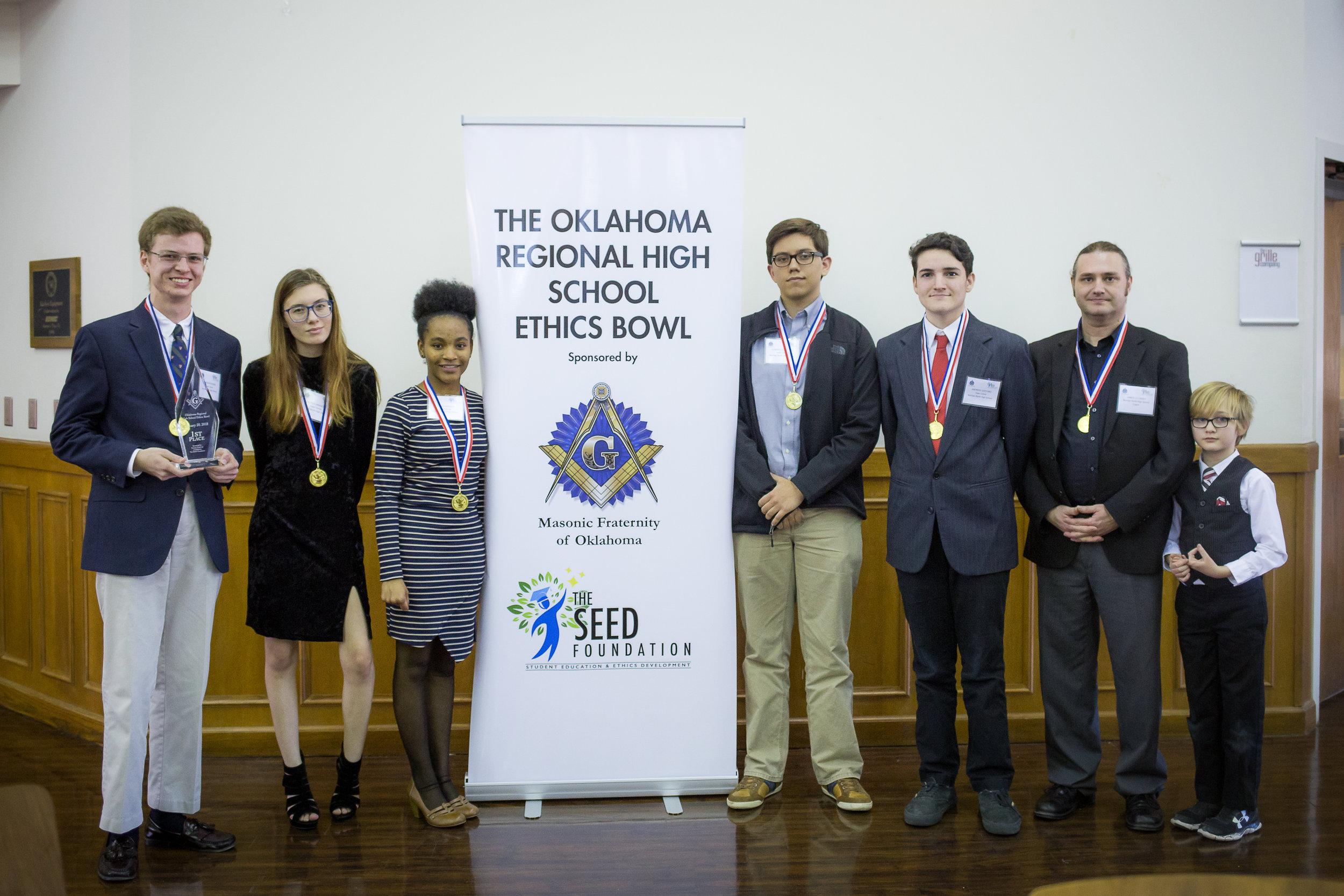 2018 2nd Annual Oklahoma Region High School Ethics Bowl Winner Norman North High School - team Virtue