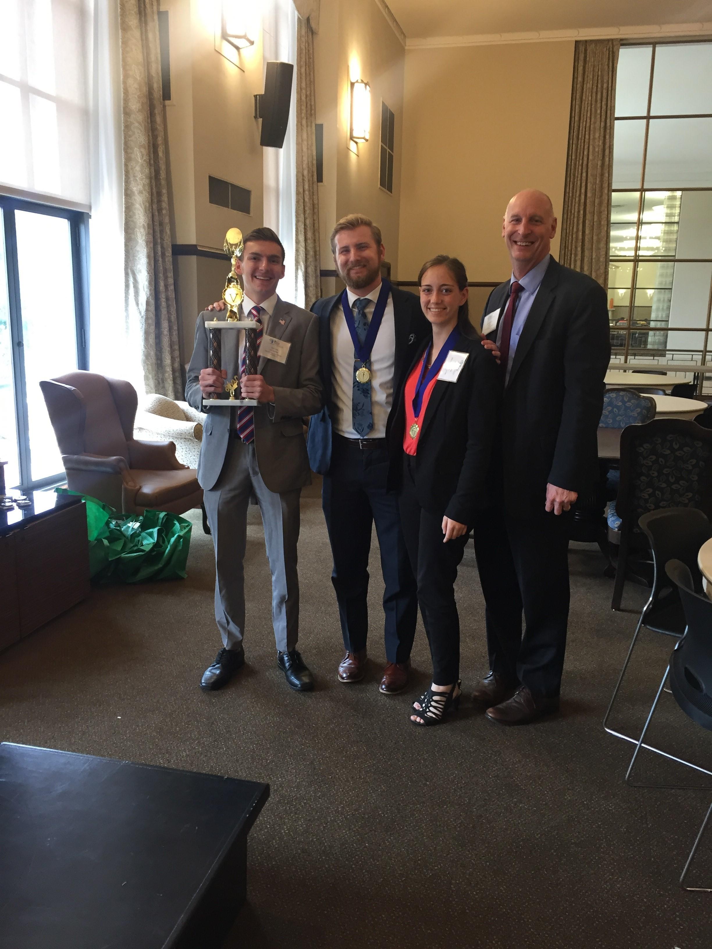Oklahoma Statewide Student Ethics Challenge 2018 Winner Oklahoma Christian University - team Aguilas