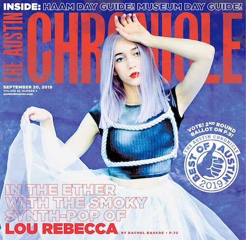 Lou Rebecca on the Cover of The Austin Chronicle