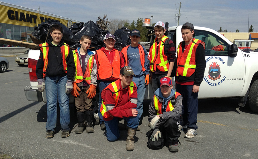 May 2013: Cleaning up our Adopt A Road section that we share with the Legion.