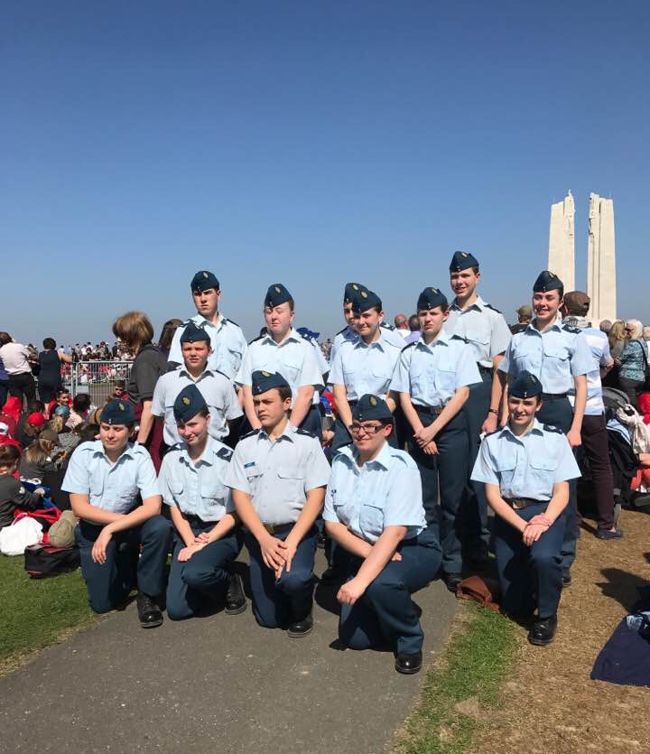 9 April 2017: 15 of our cadets went to the 100 year commemoration of the Battle of Vimy Ridge in France. During this 7 day trip they also visited Belgium and The Netherlands.