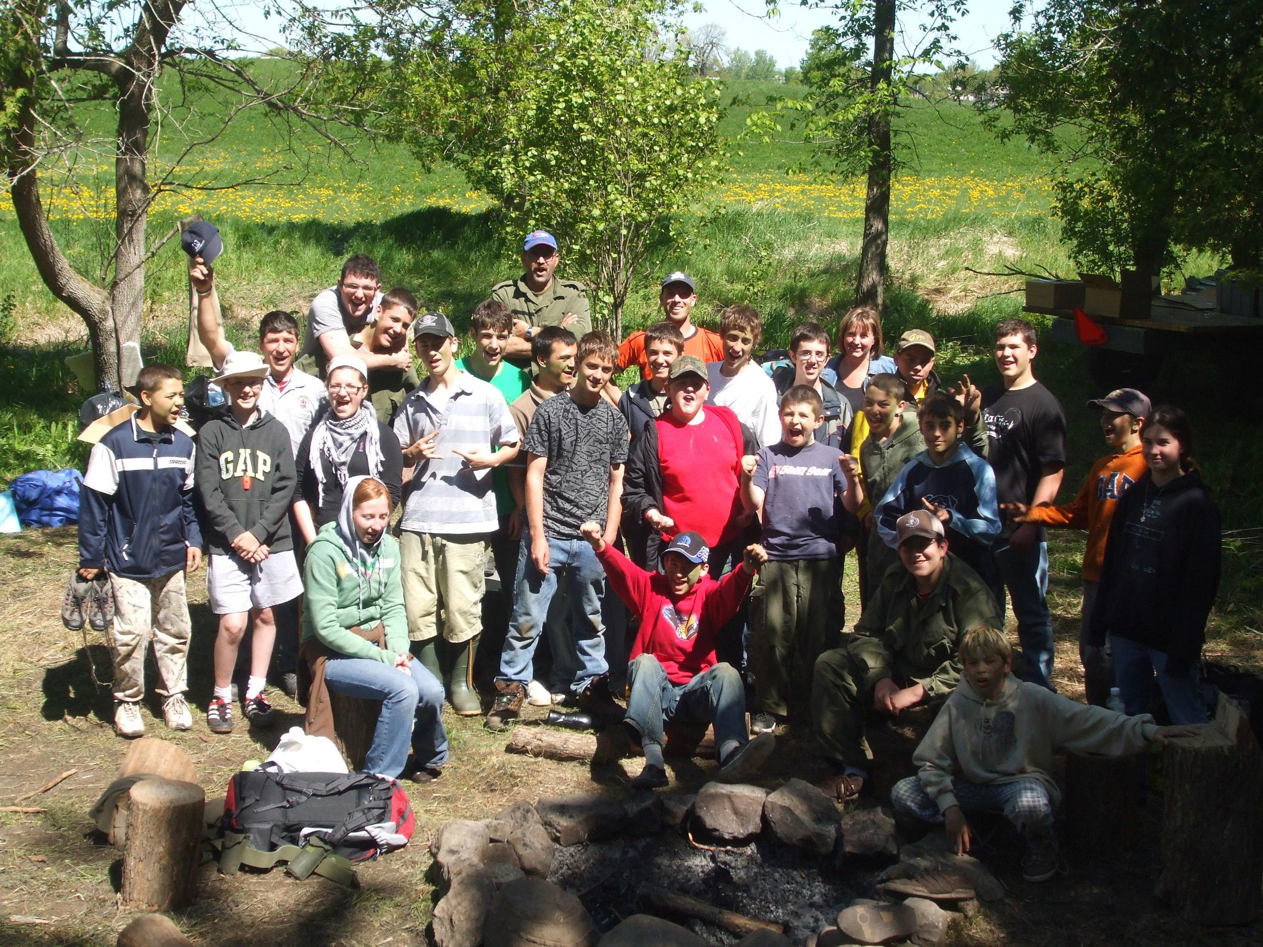 May 2008: Bush weekend at Camp McBean.