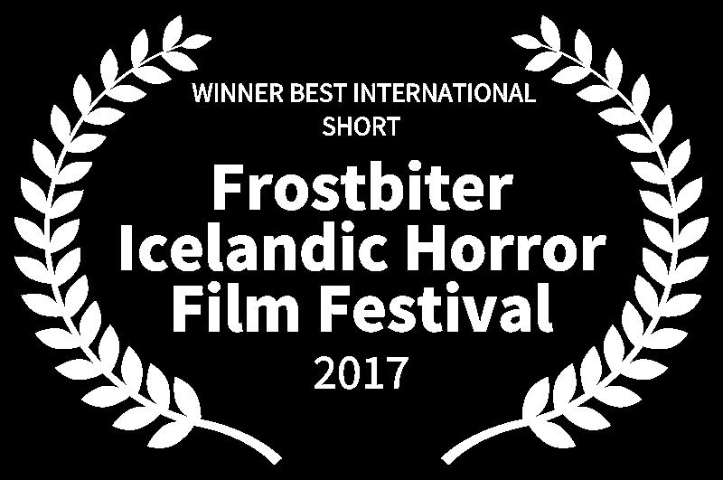 WINNER BEST INTERNATIONAL SHORT - Frostbiter Icelandic Horror Film Festival - 2017.png