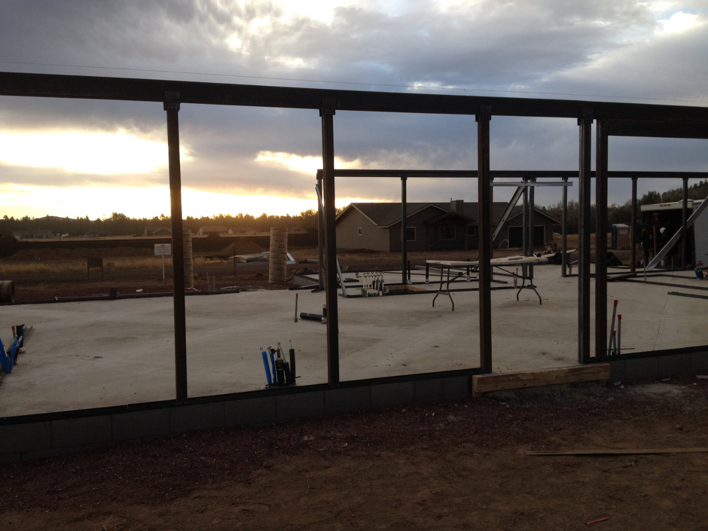 Interior shot of a residential home that is under construction near Flagstaff, Arizona.