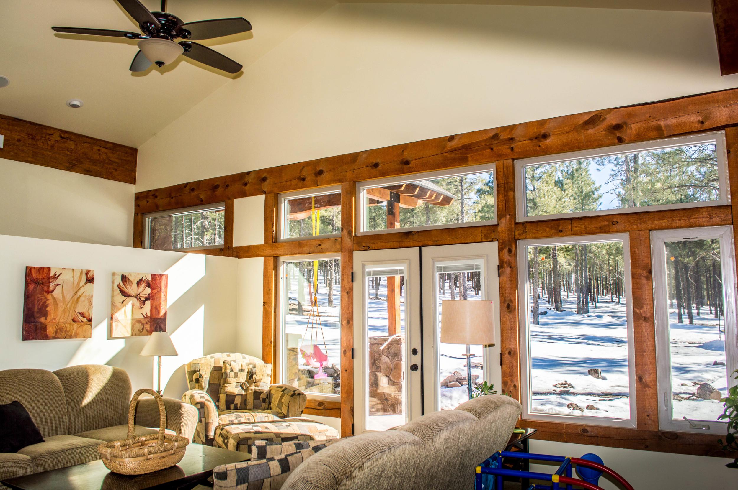 Custom living room space of a residential home near Flagstaff, Arizona.