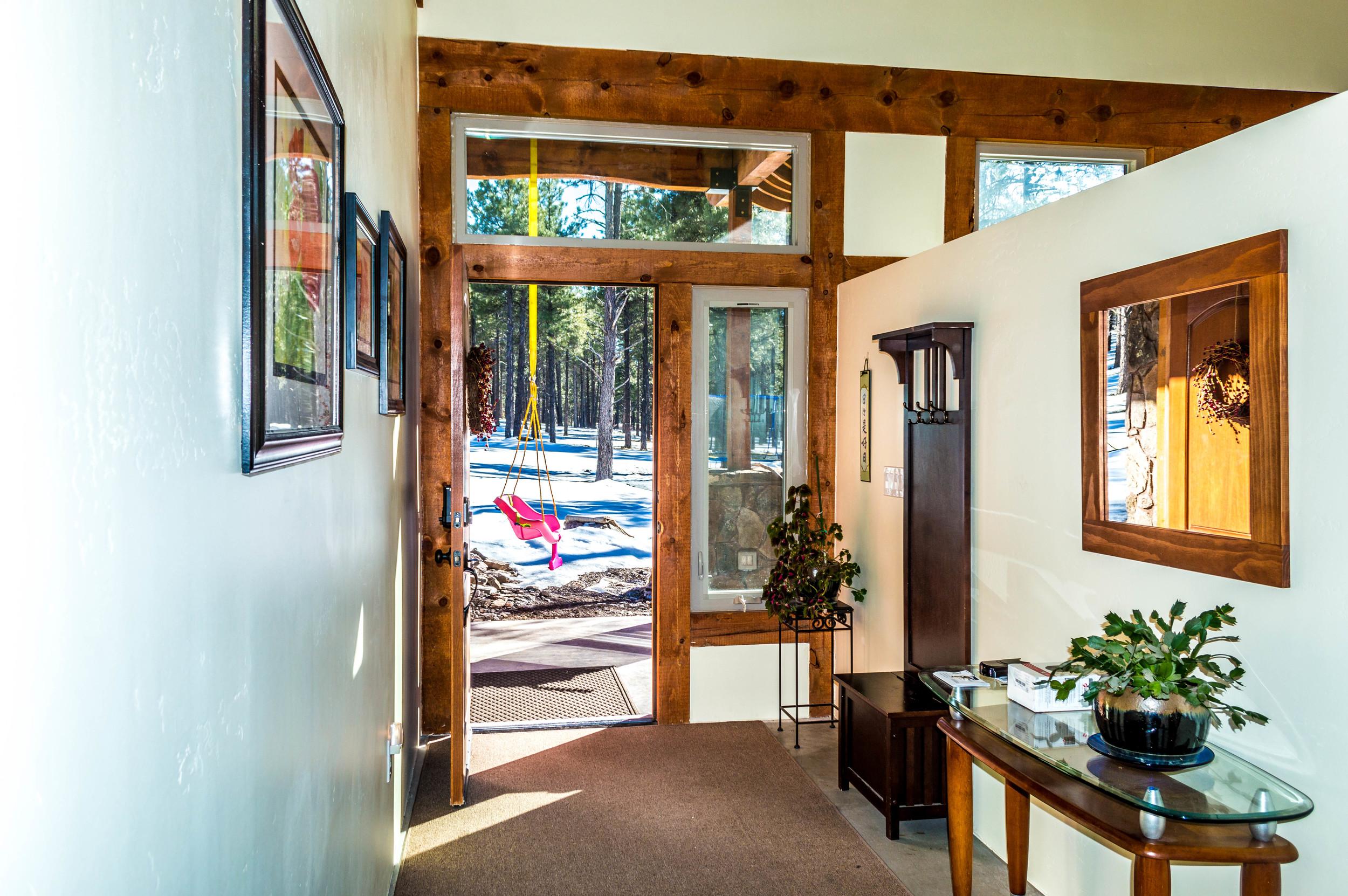 Patio entrance in a residential home near Flagstaff, Arizona.