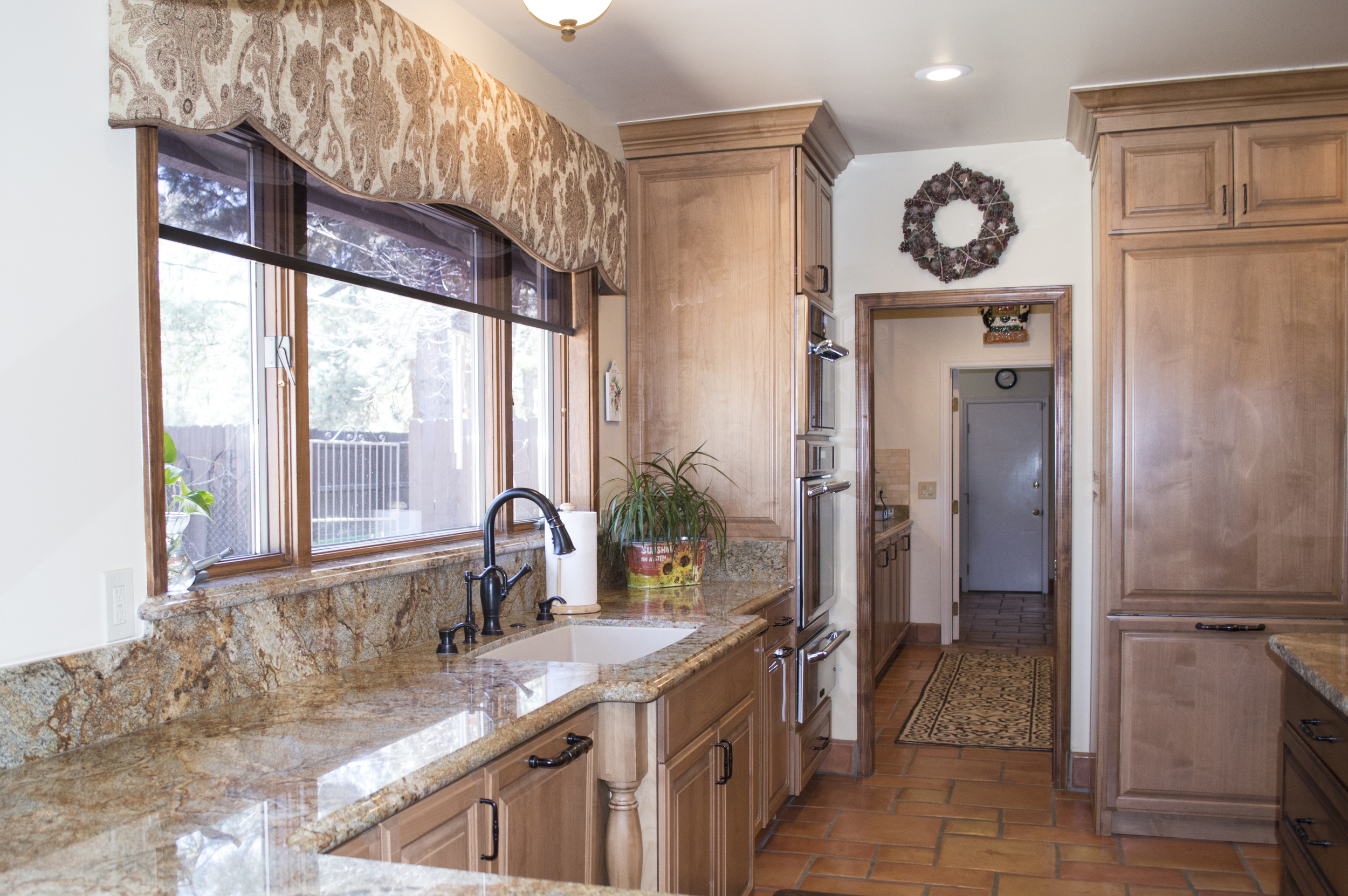 Completed custom bathroom in a residential home near Flagstaff, Arizona.