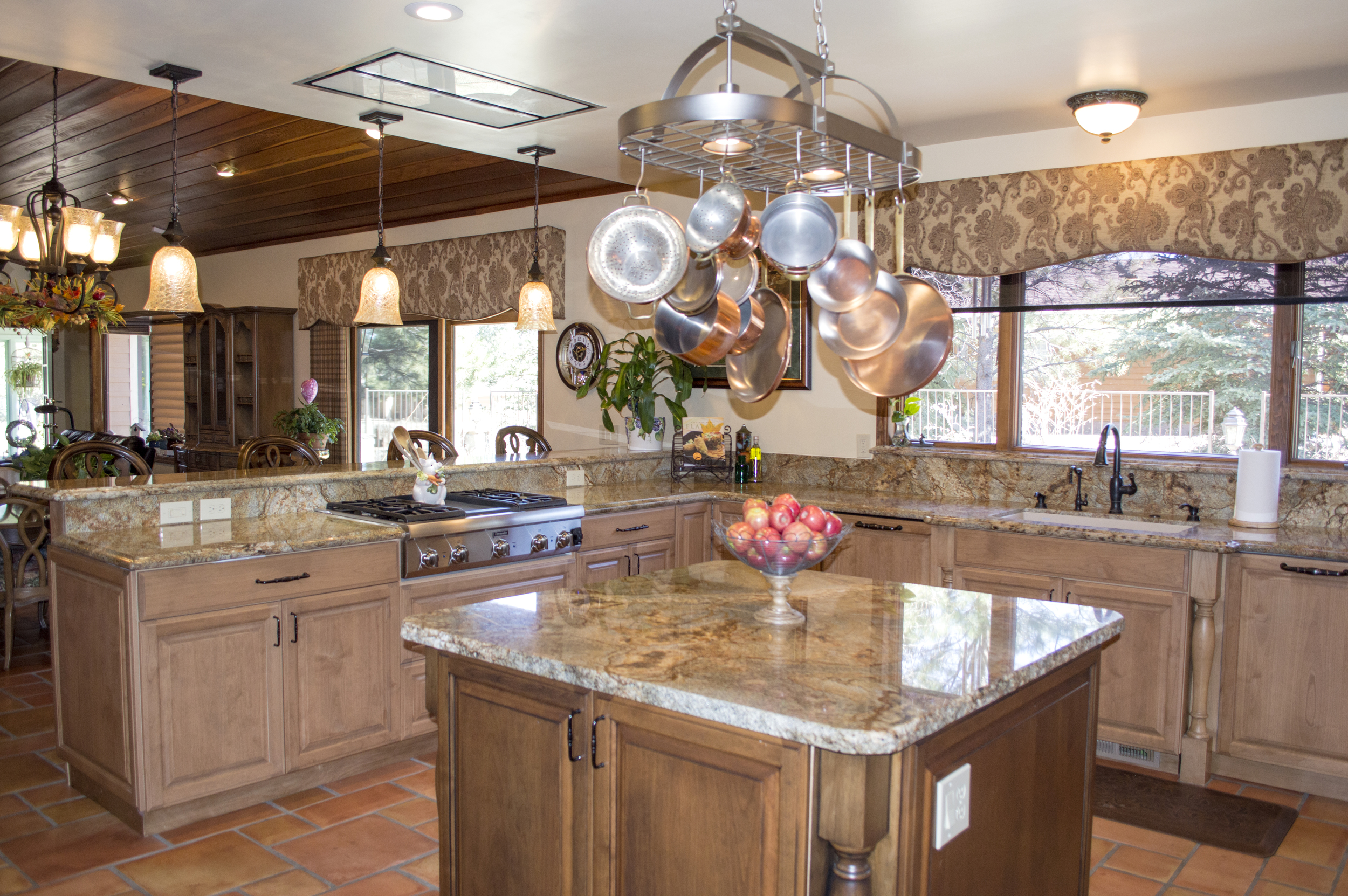 Completed custom kitchen in a residential home near Flagstaff, Arizona.
