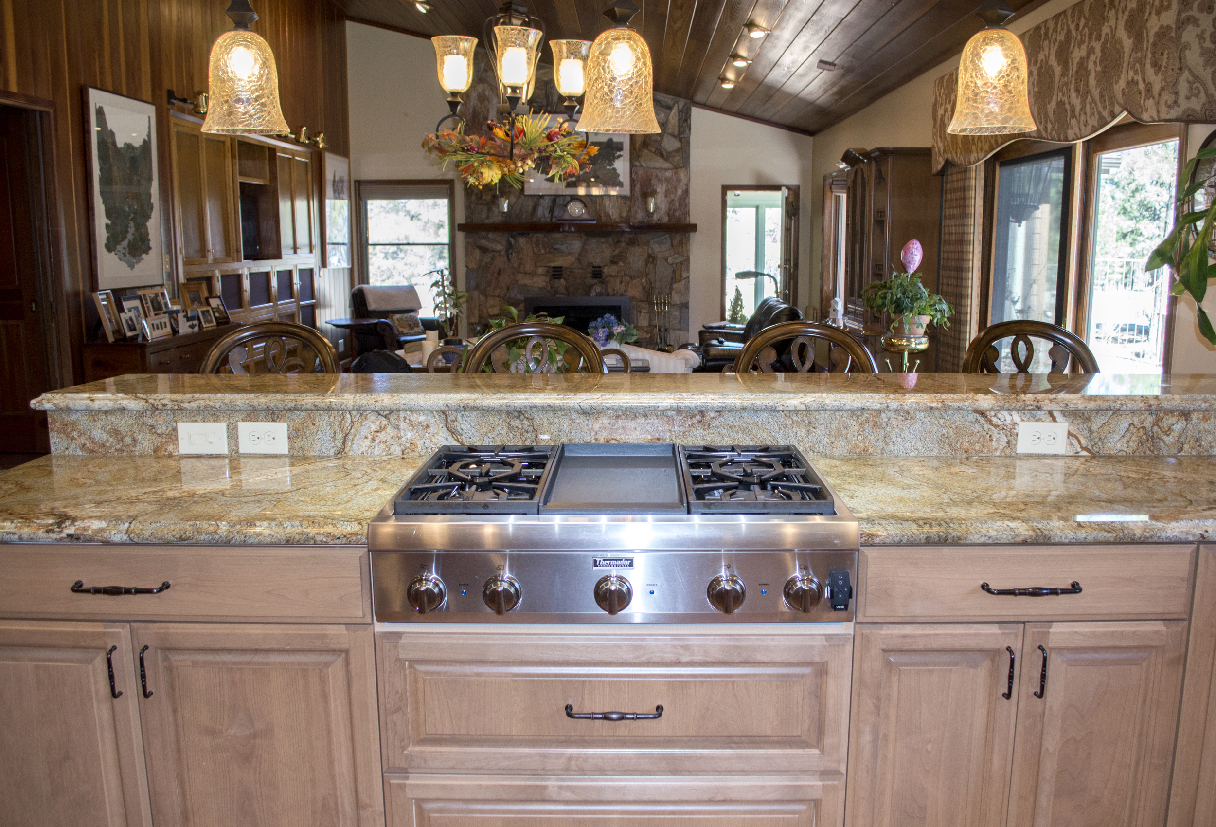 Dishwaster in a completed custom kitchen in a residential home near Flagstaff, Arizona.