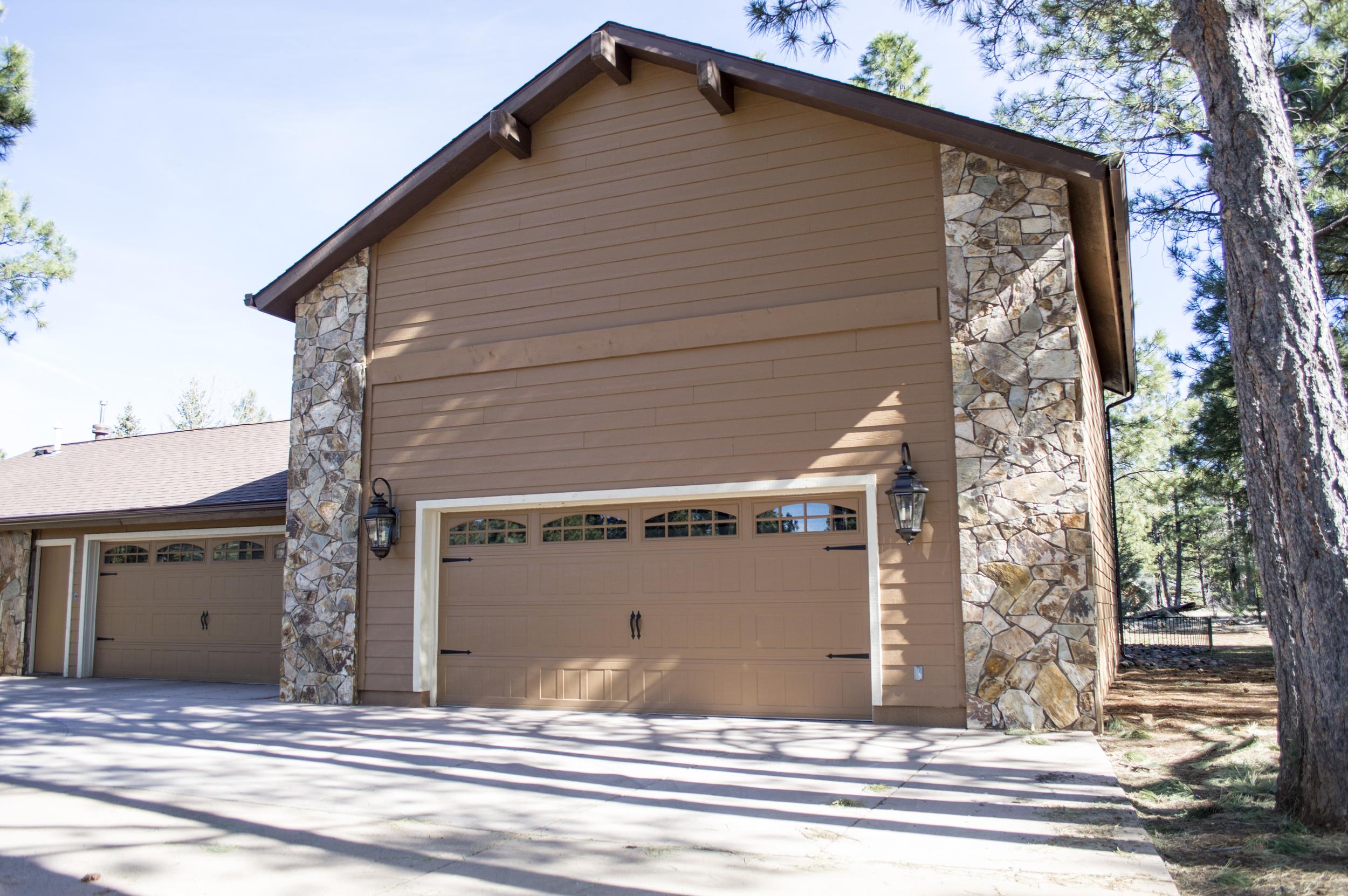 Exterior of a residential home near Flagstaff, Arizona.