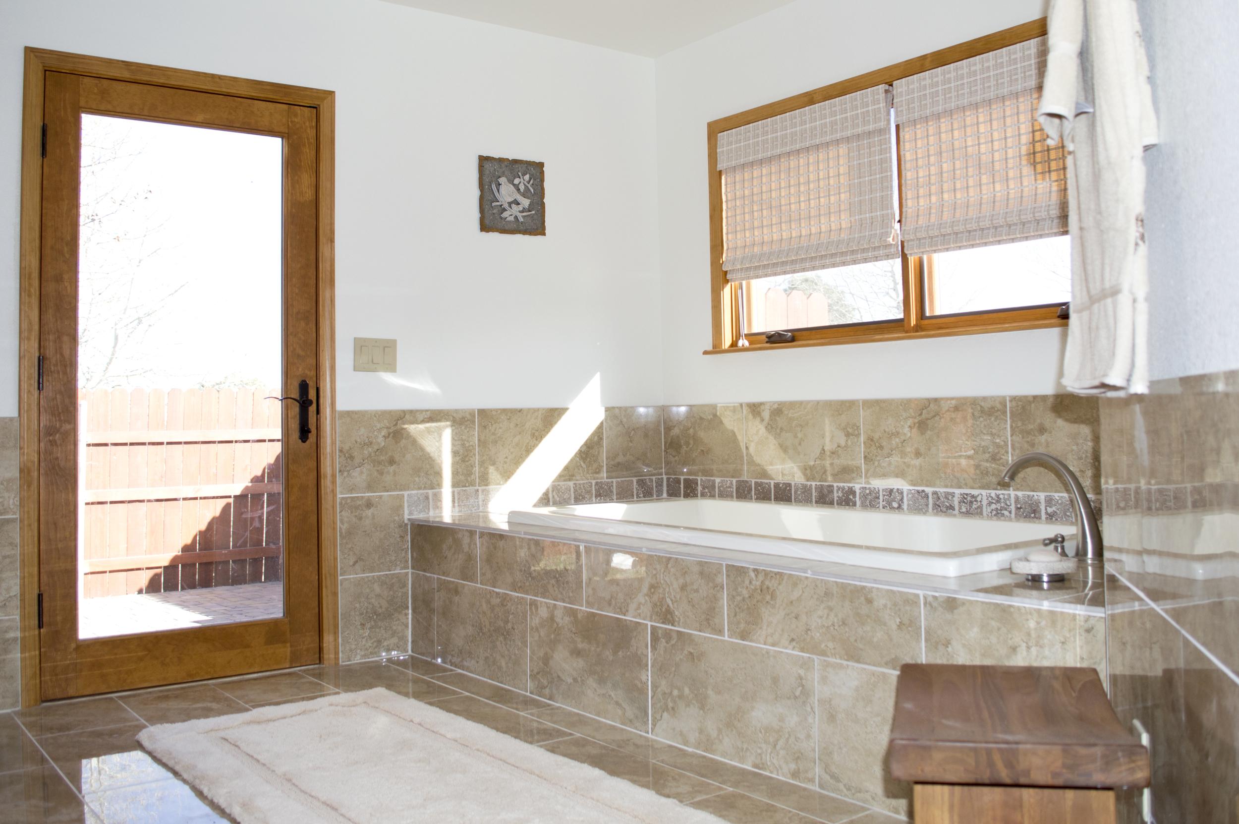 Bathroom remodel of a residential home near Flagstaff, Arizona.