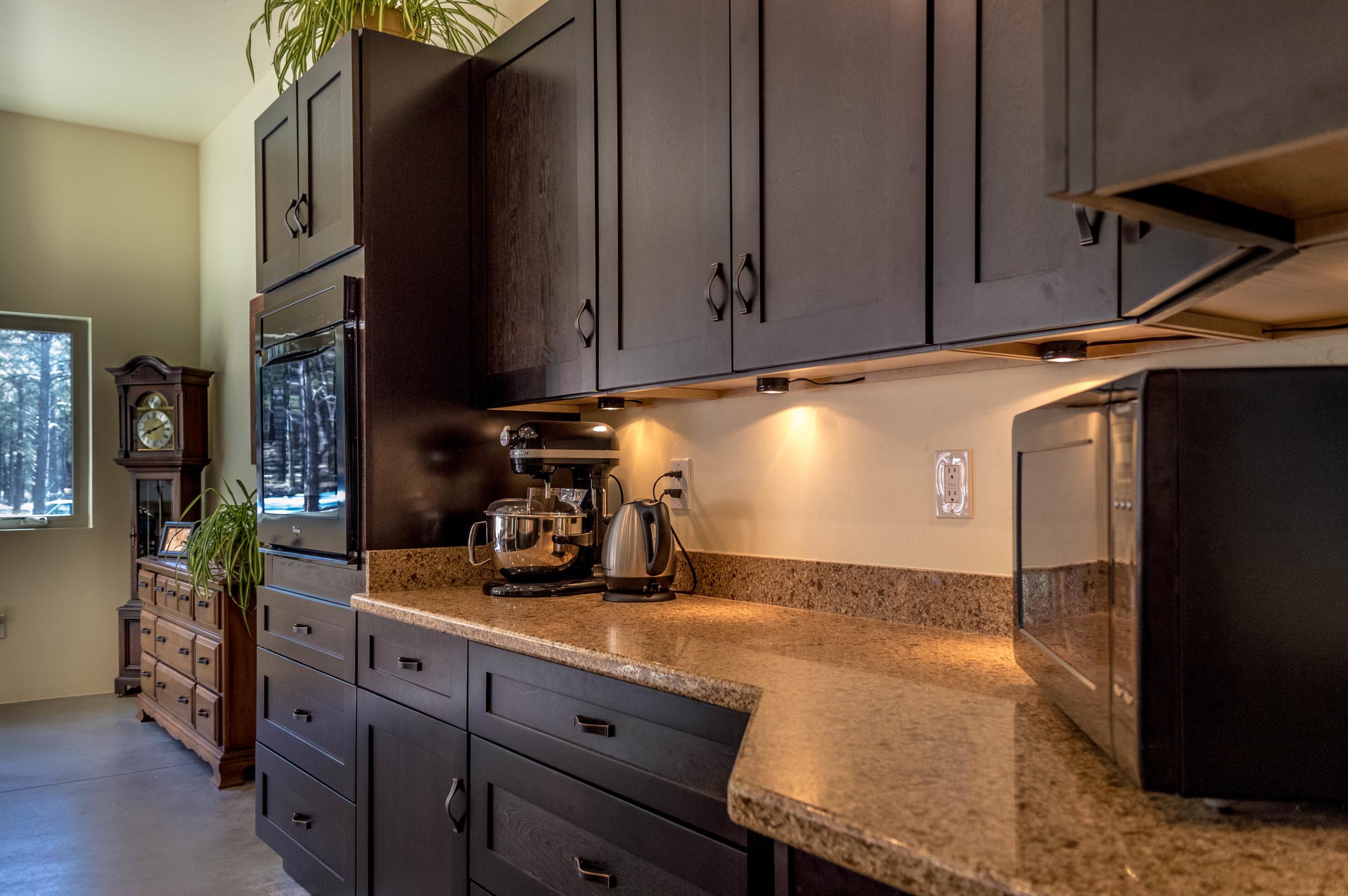 Custom kitchen in a residential home near Flagstaff, Arizona.