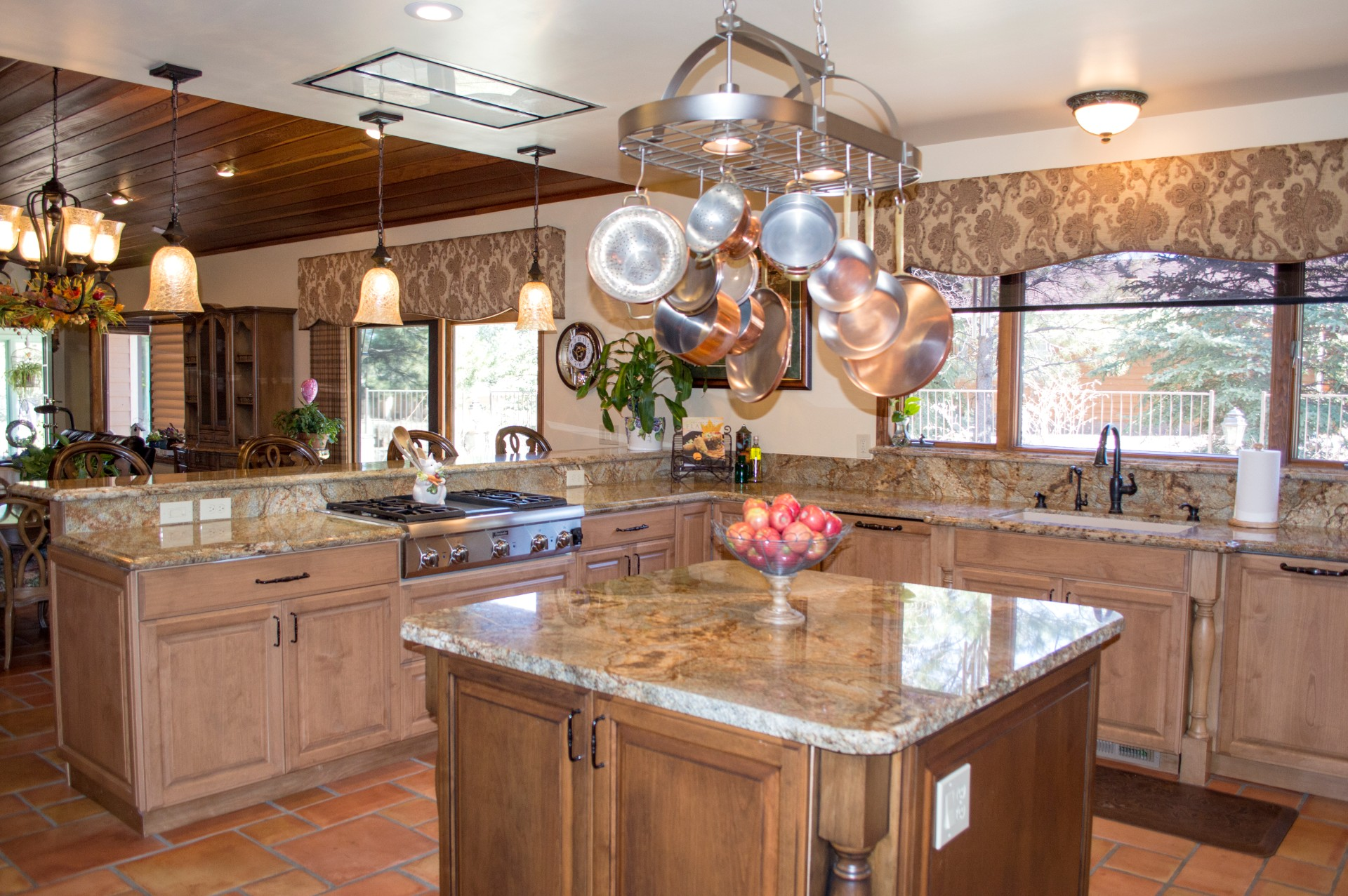 Completed remodeled kitchen in a custom home.