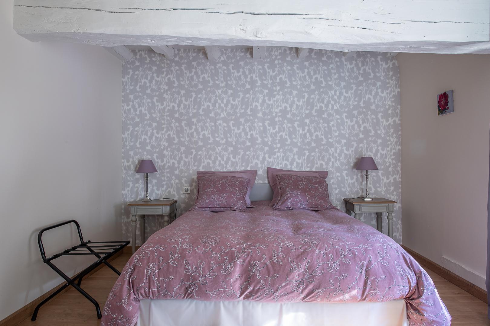 Le lit de la chambre Chablis