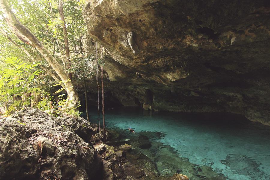 cenote mexico swimming hole playa del carmen tulum