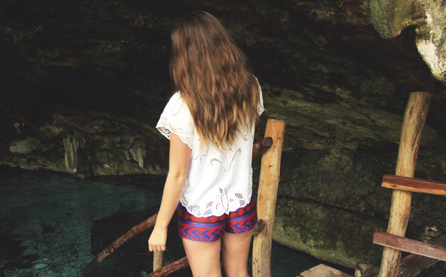 cenote playa del carmen patterned ikat jacquard shorts