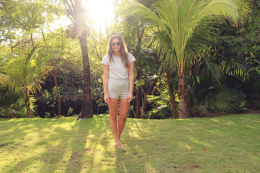 mexico palm trees sun golden american apparel romper