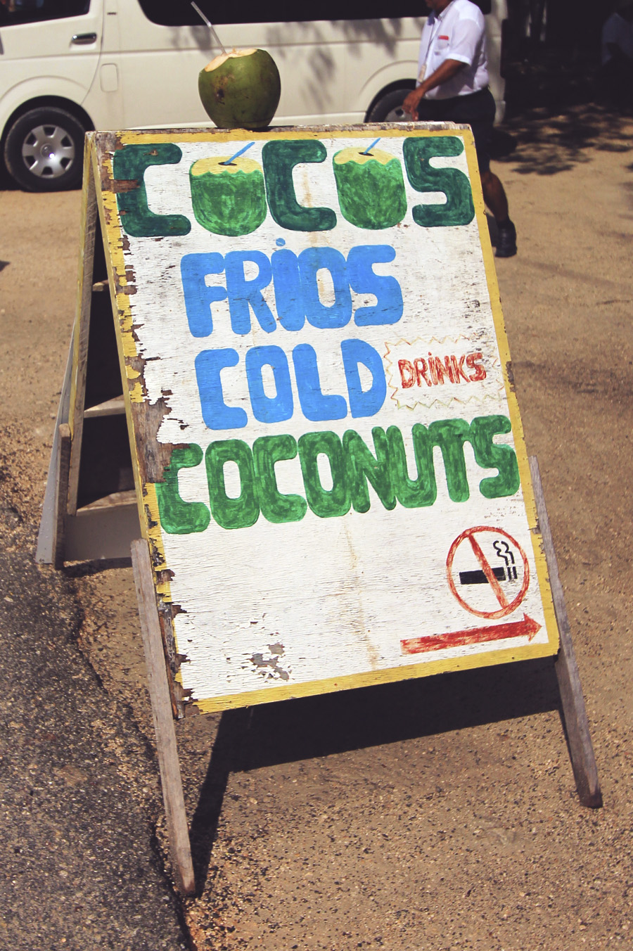 painted sign mexico coconuts