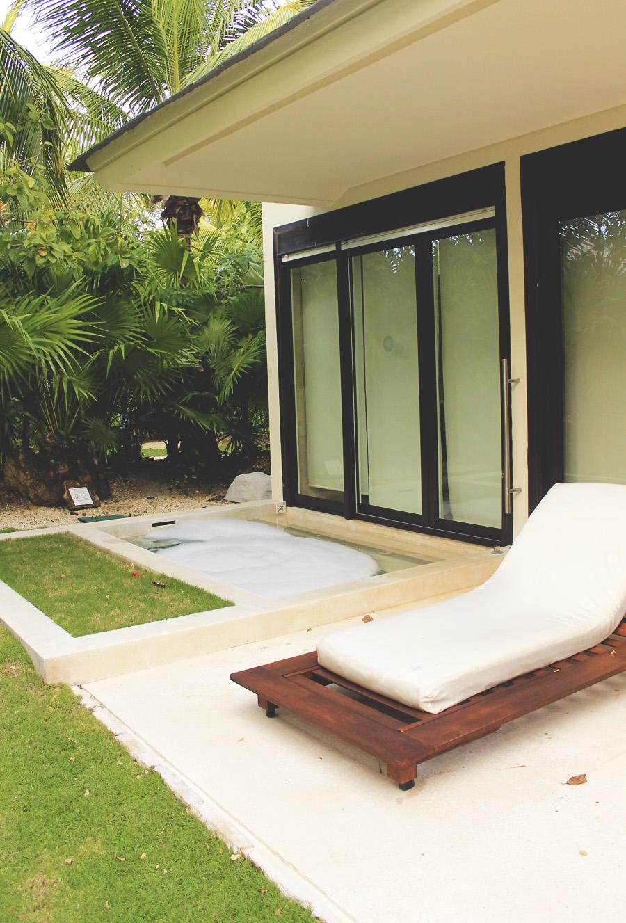 plunge pool villa mexico playa del carmen palm trees