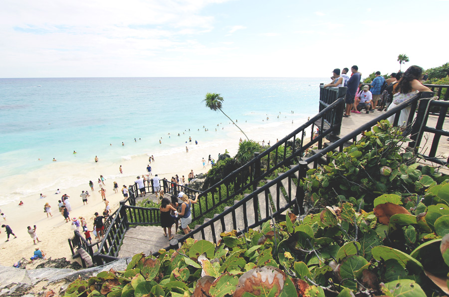 stairs beach mexico ruins tulum steps