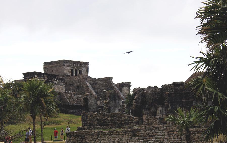 temple mayan ruins tulum stone
