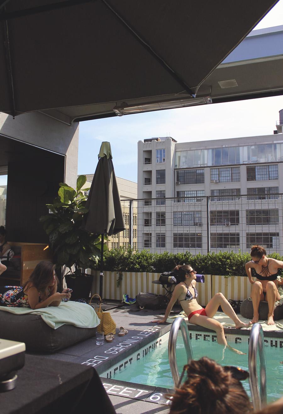 la piscine roof top pool bar chelsea hotel americano grill