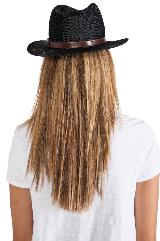 black straw fedora brixton revolve clothing