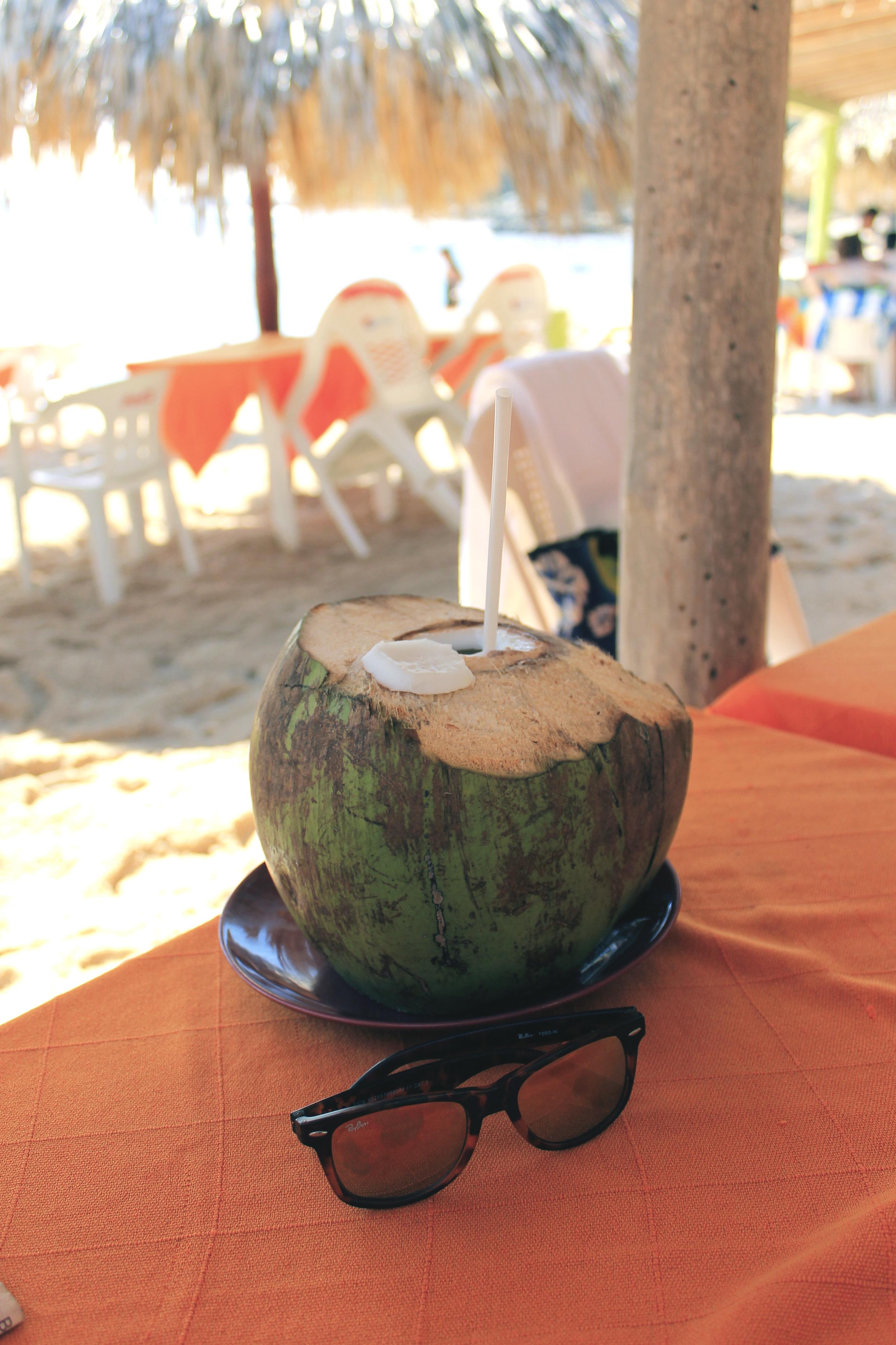 coconut water beach mexico